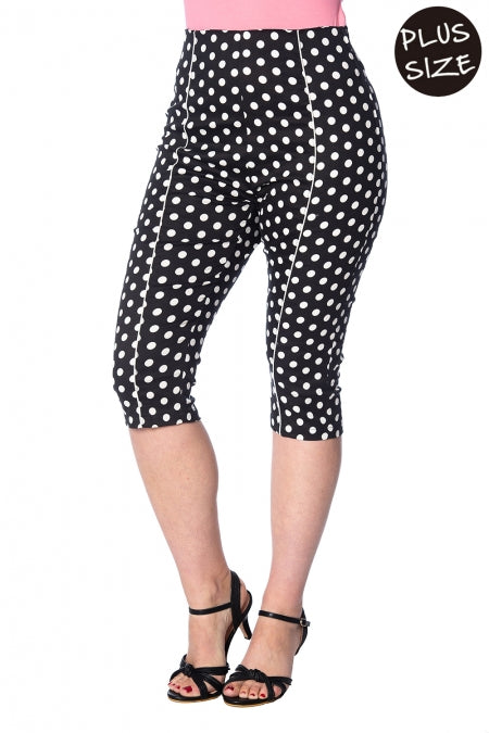 Banned Apparel - Polka Love Capris Plus Size