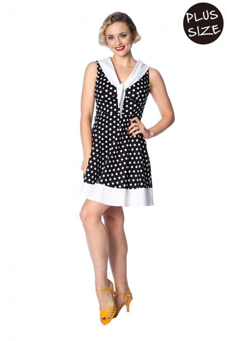 Banned Apparel - Polka Love Cute Dress Plus Size