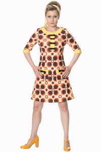 Banned Apparel - Retro Adventure Bow Dress - Egg n Chips London