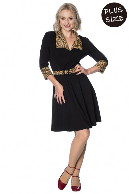 Banned Apparel - Rock n Roll Leopard Dress