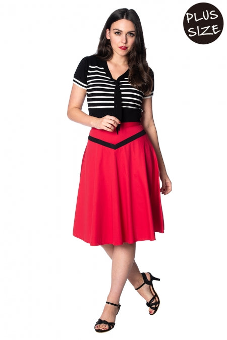Banned Apparel - Rockin Red Skirt Plus Size