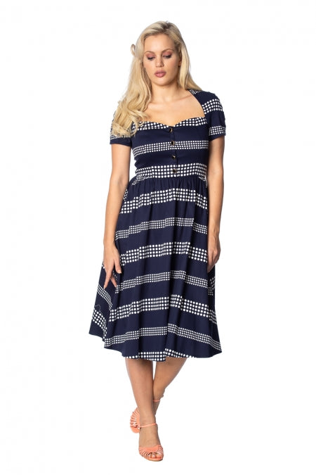 Banned Apparel - Sail Away Sweatheart Dress