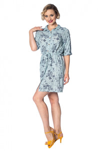 Banned Apparel - Santorini Dreams Relaxed Shirt Dress