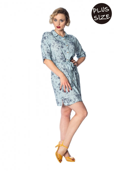 Banned Apparel - Santorini Dreams Relaxed Shirtdress Plus Size