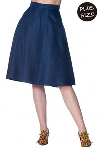 Banned Apparel - Secretary Flare Skirt Plus Size
