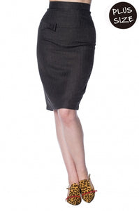 Banned Apparel - Secretary Pencil Skirt Plus Size