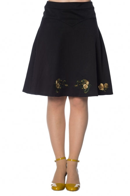 Banned Apparel - Serpent Flare Skirt