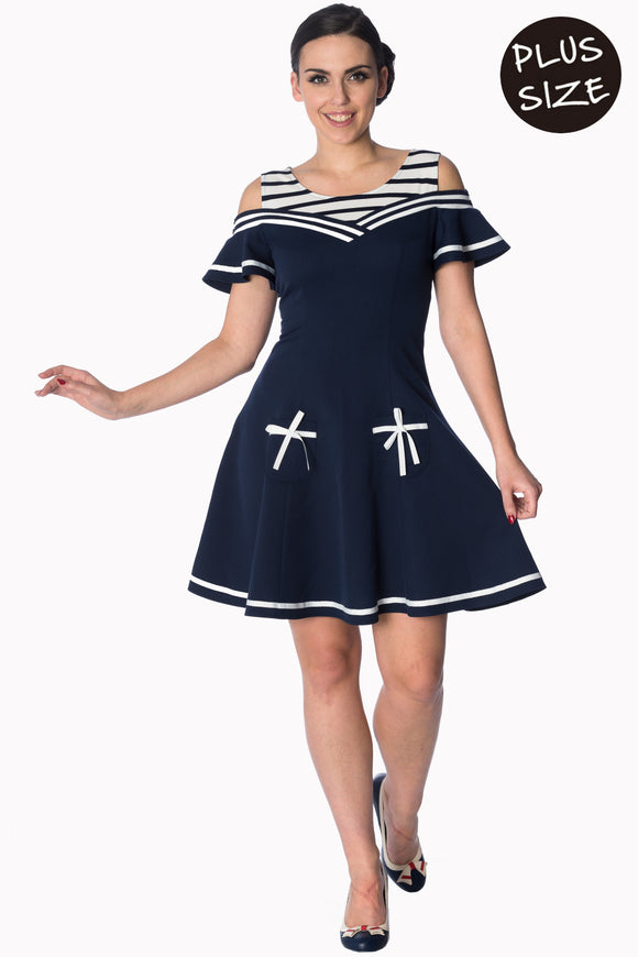 Banned Apparel - Set Sail 2 Fer Dress Plus Size
