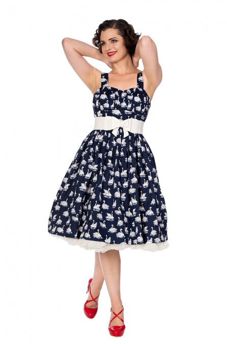 Banned Apparel - Summer Swan Flare Dress