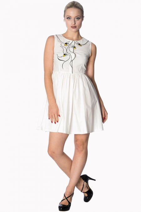 Banned Apparel - Swan lake White Dress