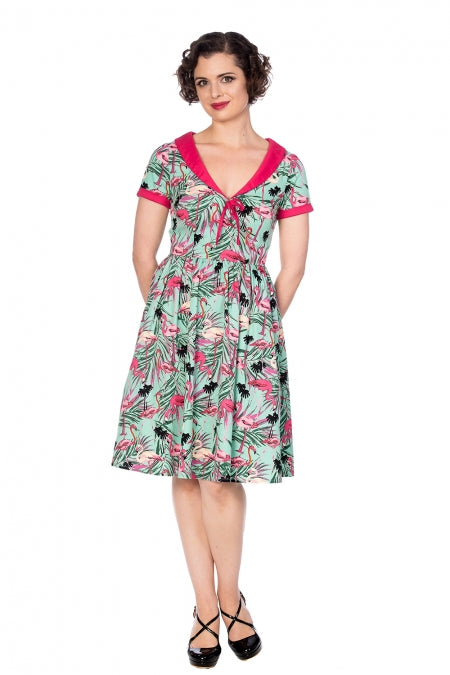 Banned Apparel - Sweet Swans Fit & Flare Dress