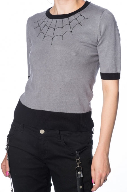 Banned Apparel - Tarantula Web Sweater