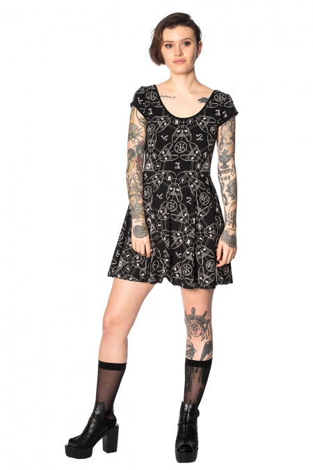 Banned Apparel - Teen Goth Cat Dress