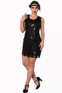 Banned Apparel - The Great Gatsby Black Dress - Egg n Chips London
