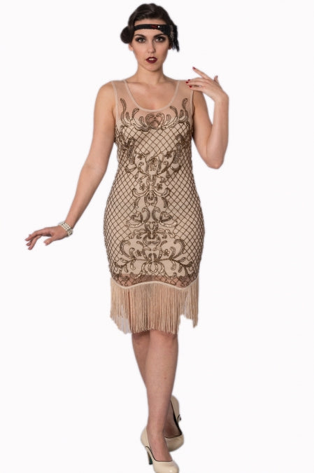 Banned Apparel - The Great Gatsby Nude Dress - Egg n Chips London