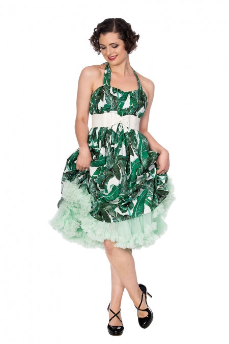 Banned Apparel - Tropical Leaf Dress