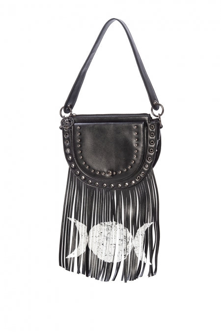 Banned Apparel - Valonia Triple Moon Fringe Bag