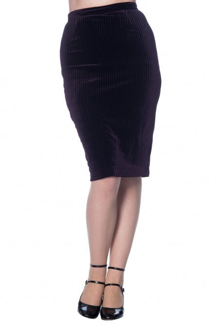 Banned Apparel - Vera Velvet Skirt