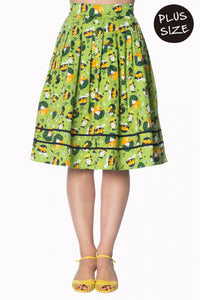 Banned Apparel - Vintage Hat 50s Style Lime Green Skirt