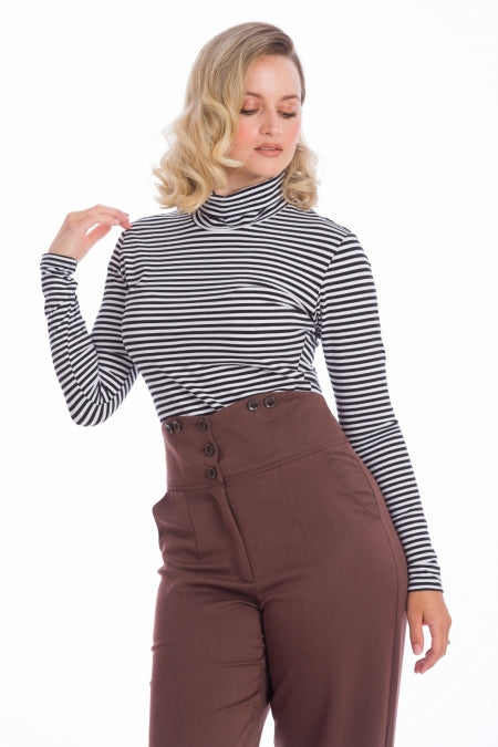 Banned Clothing - Women's Winter Stripe Jersey Top