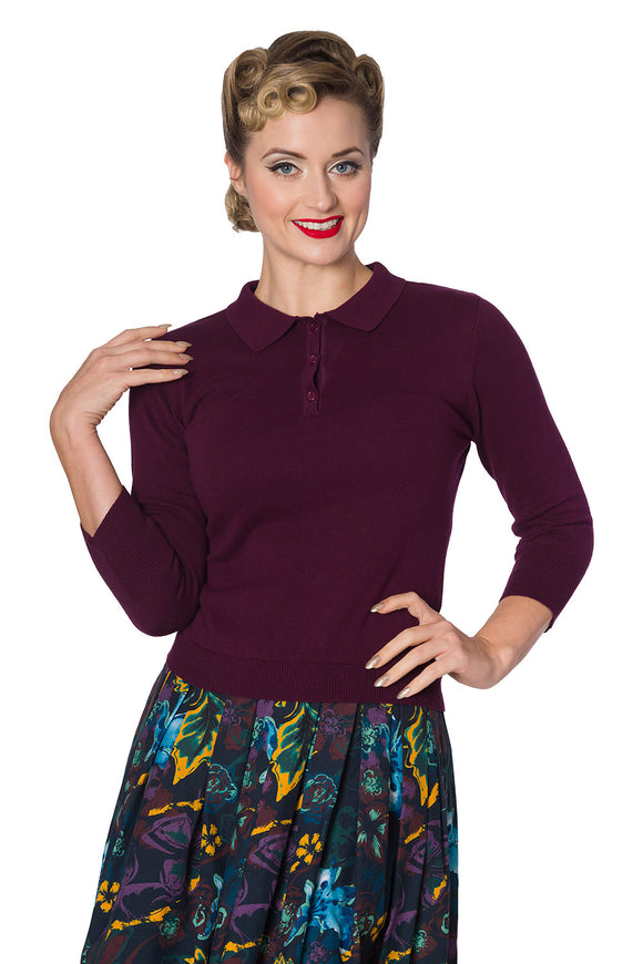 Banned Clothing - Women's Audry Button Knit Top