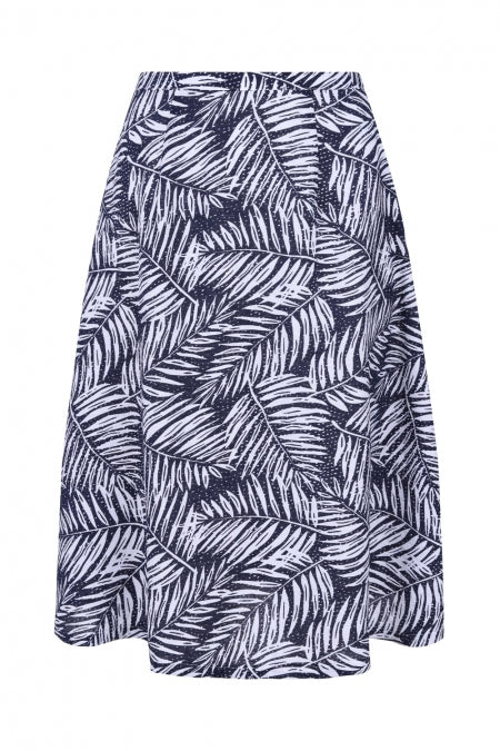 Banned Apparel - Women's Navy Leaves Skirt