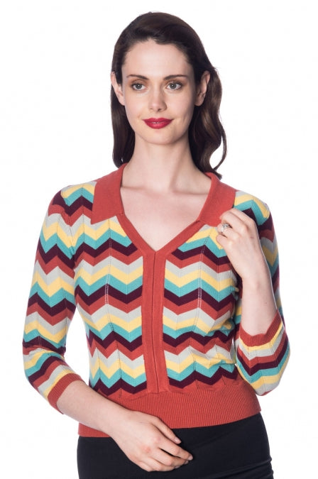 Banned Apparel - Zoe Zig Zag Collar Top