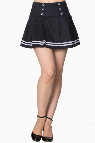 Banned Apparel - Navy Samantha Skirt