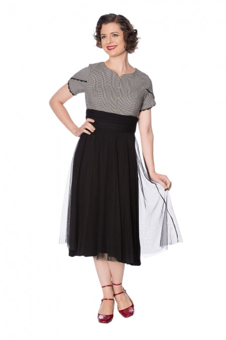 Banned Clothing - Betty Houndstooth Dress