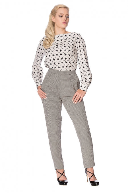 Banned Clothing - Betty Houndstooth Trouser