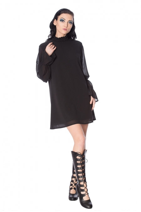 Banned Clothing - Black Lines Dress