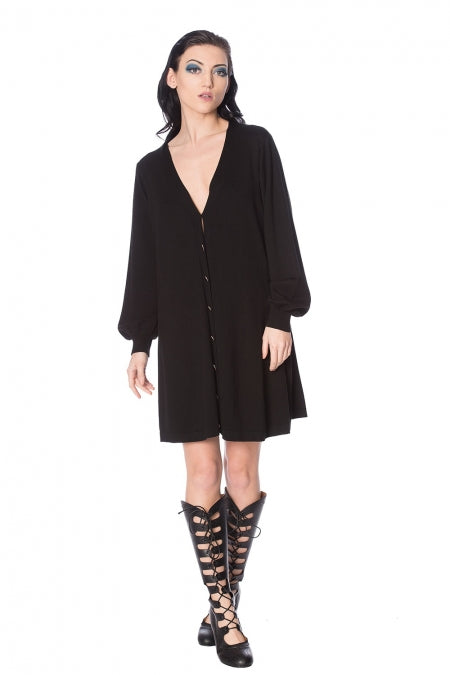 Banned Clothing - Black Magma Cardi Dress