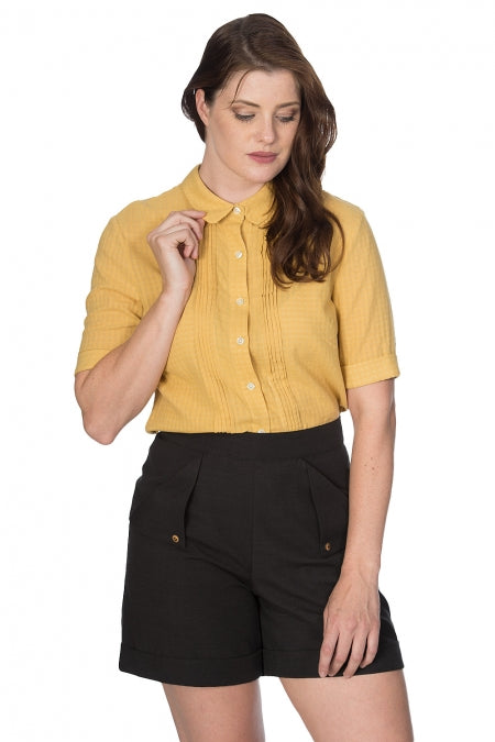 Banned Clothing - Boxy Textured Shirt