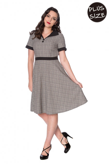 Banned Clothing - Brains & Brawn Flare Dress Plus Size