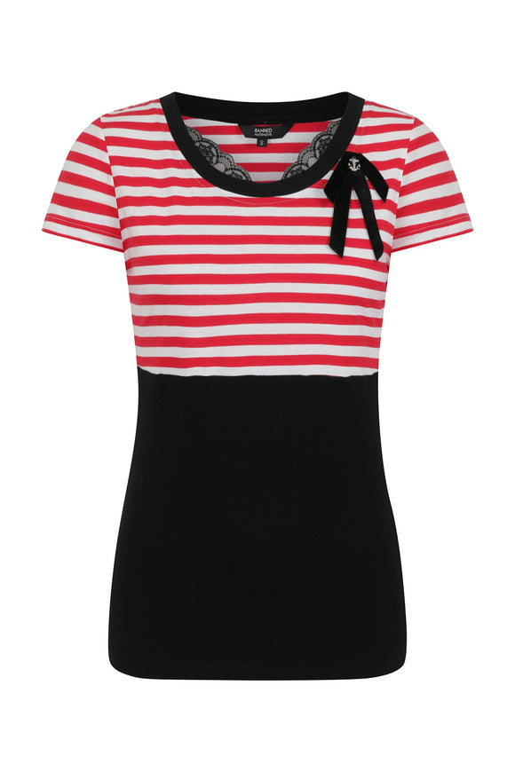 Banned Clothing - Candy Stripe Top