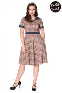 Banned Clothing - Check Mate Flare Dress Plus Size