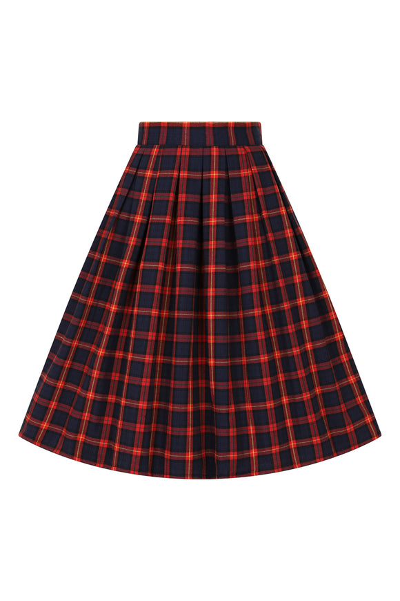 Banned Clothing - Christmas Check Skirt