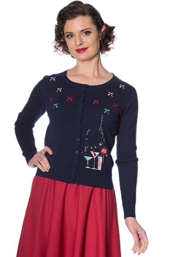 Banned Clothing - Christmas Cocktails Cardigan
