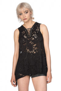 Banned Clothing - Doomed Romantic High Low Hem Top