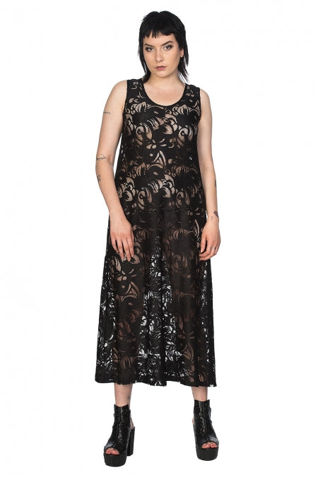 Banned Clothing - Doomed Romantic Long Line Lace