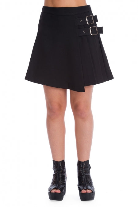 Banned Clothing - Dull Moon Pleat Skirt