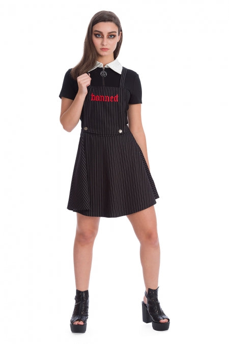 Banned Clothing - End Of Time Pinafore Skirt