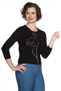 Banned Clothing - Flamingo Honnie Cardi