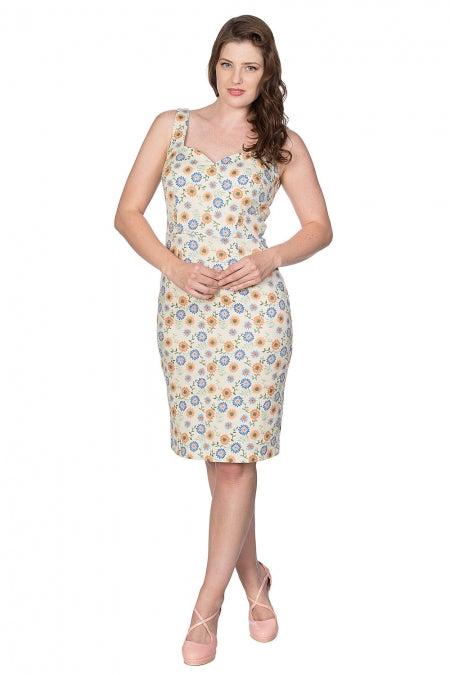 Banned Clothing - Flower Power Pencil Dress