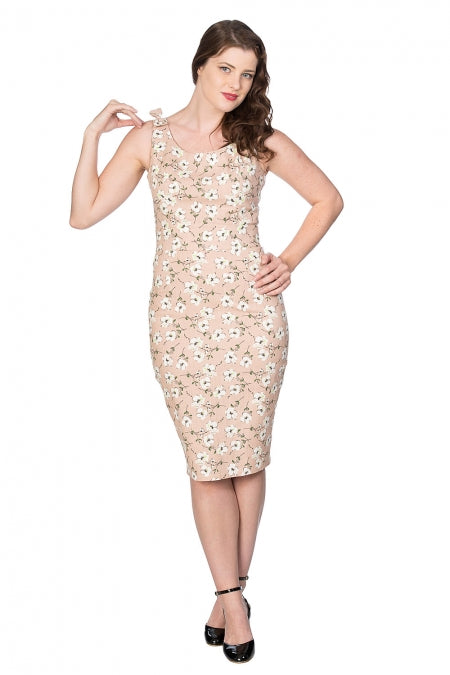 Banned Clothing - Fresh Bloom Print Pencil Dress