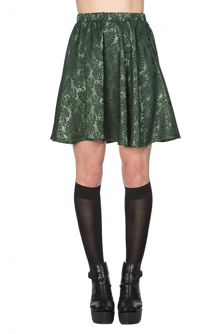 Banned Clothing - Future Flapper Green Skirt
