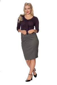 Banned Clothing - Grey Lines Skirt