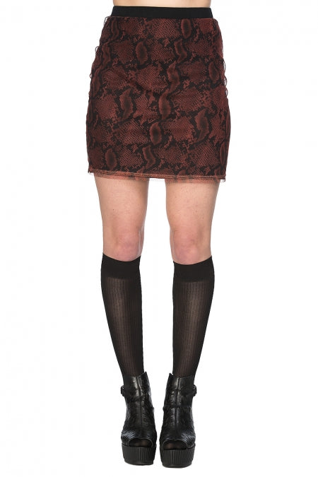 Banned Clothing - Jersey And Snake Skirt
