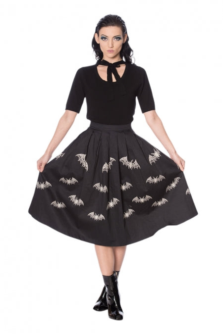 Banned Clothing - Lace Bats Skirt