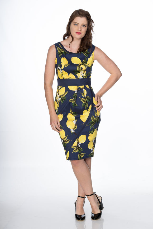 Banned Clothing - Lemon Pencil Dress